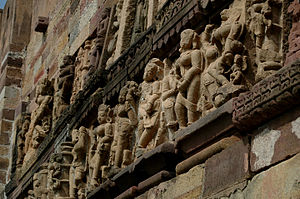 Chhattisgarh Division - Wall sculptures in Ratanpur Fort.