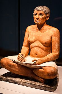 The Seated Scribe - Wikipedia, the free encyclopedia