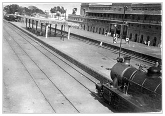 Secunderabad Junction railway station - A locomotive at the Secunderabad Station, circa 1928