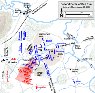 where did the second battle of bull run take place