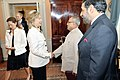 Secretary Clinton Shakes Hands With Indian Finance Minsiter Mukherjee (4730389867).jpg