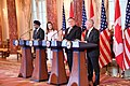 Secretary Pompeo, Secretary Mattis, Canadian Foreign Minister Freeland and Canadian Defense Minister Sajjan Address the Press (44499792270).jpg