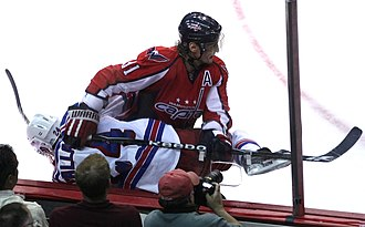 Sergei Fedorov - Fedorov giving a check with the Washington Capitals