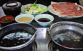 <i>Shabu-shabu</i> Japanese hotpot dish