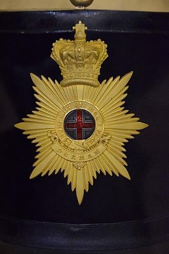 Militia and Volunteers of County Durham - Image: Shako plate of the Durham Militia