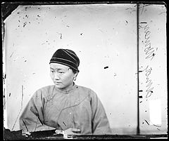 Shanghai, China; a woman wearing a velvet snood, John Thomson Wellcome L0056179.jpg