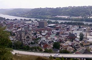 Sharpsburg, Pennsylvania - The Borough of Sharpsburg (Route 28 is pictured in the foreground; the Allegheny River is in the background)
