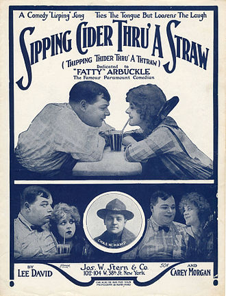 "1919 in music - Sheet music cover - ""Sipping Cider Through A Straw"""