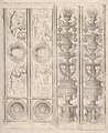 Sheet of border segments- two candelabra and two horizontal pieces with putti, two corners, from Life of the Virgin and Christ MET DP833948.jpg