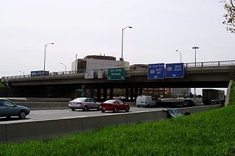 Sheppard Avenue - Sheppard Avenue is carried across the lanes of Highway 404.