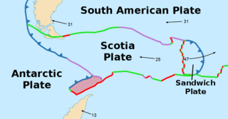Shetland Plate Tectonic microplate off the tip of the Antarctic Peninsula