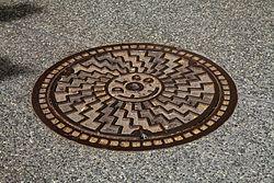Duquesne Light Manhole Cover.