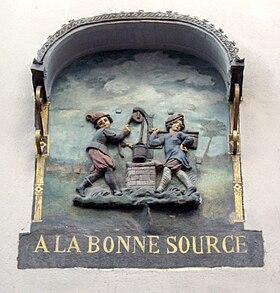 Enseigne d'un marchand de vin- Rue Mouffetrad - Paris- XVIIè siècle