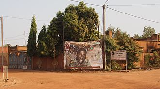Union for Rebirth / Sankarist Party - Party headquarters of the UNIR/PS with a poster portraying Thomas Sankara.
