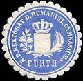 Siegelmarke Königlich Bayerische Rektorat des Humanistischen Gymnasiums - Fürth W0225550.jpg
