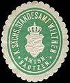 Siegelmarke Königlich Sächsisches Standesamt Wilthen - Amtshauptmannschaft Bautzen W0252839.jpg