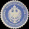 Siegelmarke K. Marine Kommando der Vorpostenhalbflottille West W0357567.jpg