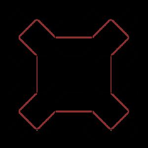 Sierpiński curve - Sierpiński curves of orders 1 and 2