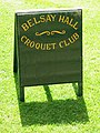 Sign for Belsay Hall Croquet Club - geograph.org.uk - 1479360.jpg