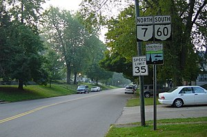 Ohio State Route 60 - SR 7 concurrent with SR 60 in Marietta.
