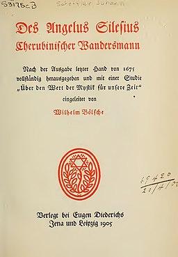 Silesius, Angelus – Des Angelus Silesius Cherubinischer Wandersmann, 1905 – BEIC 3325036