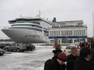 MS Silja Europa - Silja Europa on one of her Christmas cruises from Turku to Riga.