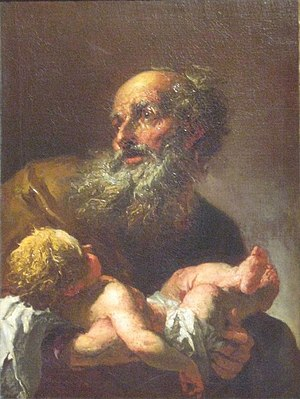 Petr Brandl - Image: Simeon with the Infant Jesus Brandl after 1725 National Gallery Prague