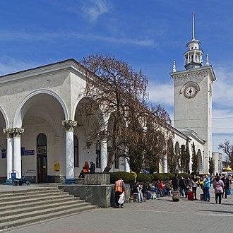 Crimea Railway - Simferopol Railway station – the biggest in Crimea