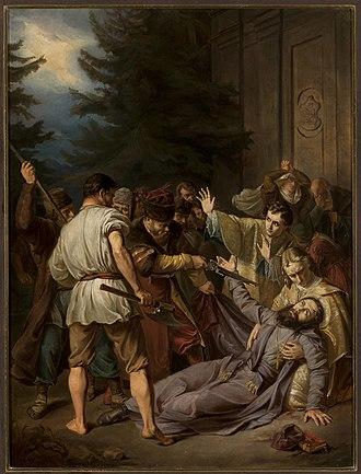 Josaphat Kuntsevych - Martyrdom of Josaphat Kuntsevych (c. 1861) by Józef Simmler, National Museum in Warsaw