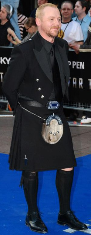 Simon Pegg - Pegg at a premiere for Star Trek in April 2009