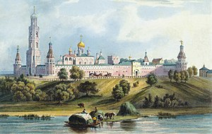 Simonov Monastery - A 19th-century watercolour view of the monastery.