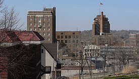 Sioux City downtown Warrior and courthouse.JPG