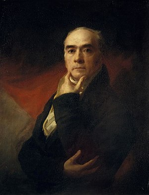 Henry Raeburn - Raeburn in a self-portrait, c. 1820