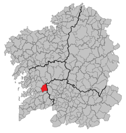 Location of A Lama within Galicia