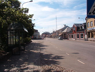 Sjöbo Municipality - The main streets are long and straight in Sjöbo