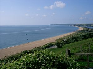 A379 road - The A379 on Slapton Sands