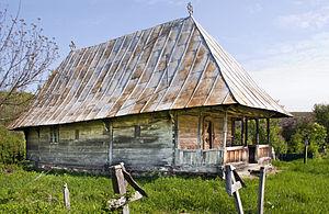 Gorj County - Wooden church in Slăvuţa, Gorj county