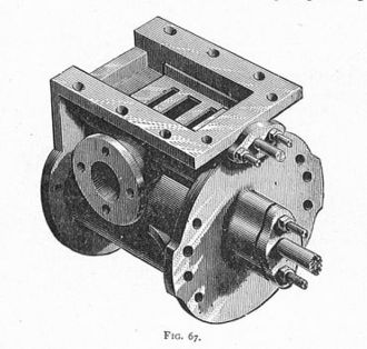Slide valve - Cylinder, with slide valve removed to show ports