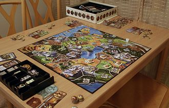 Small World (board game) - A game of Small World being played.