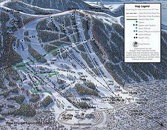 Snow King Mountain - Snow King trail map (2013)