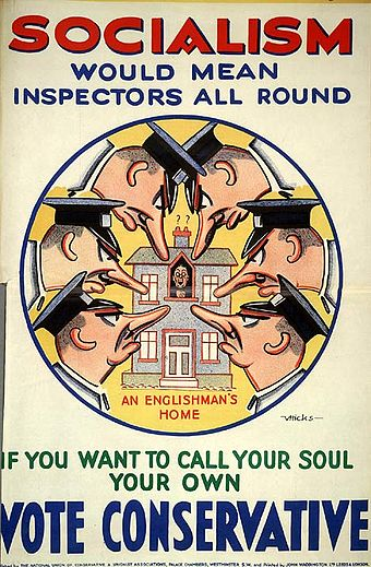 1929 Conservative poster attacking the Labour Party Socialism Would Mean.jpg