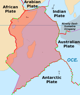Somali Plate Minor tectonic plate including the east coast of Africa and the ajoining seabed