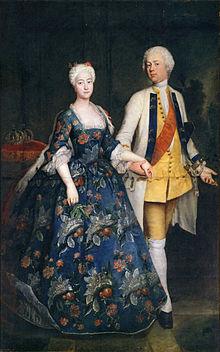 Sophie von Preußen mit ihrem Gemahl Markgraf Friedrich Wilhelm von Brandenburg-Schwedt (Pesne).jpg