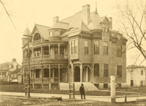 Albert Sottile House - The Sottile House was photographed here in 1892, shortly after its completion.