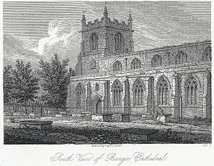 South view of Bangor Cathedral