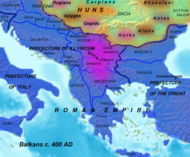 Southeastern Europe around 400