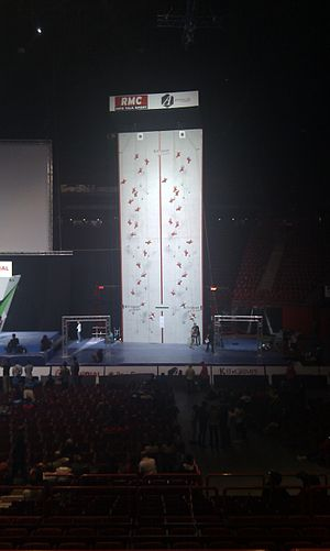 Speed climbing - Image: Speed Climbing Wall World Championships Bercy 2012