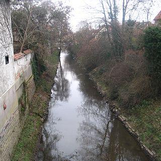 Speyerbach river in Germany