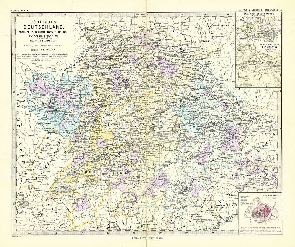 Schwaben Karte Deutschland.Spruner Menke Handatlas 1880 Karte 40 Wikisource