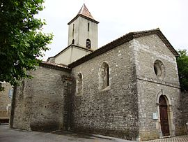 The church in Saint-Maurice-d'Ardèche